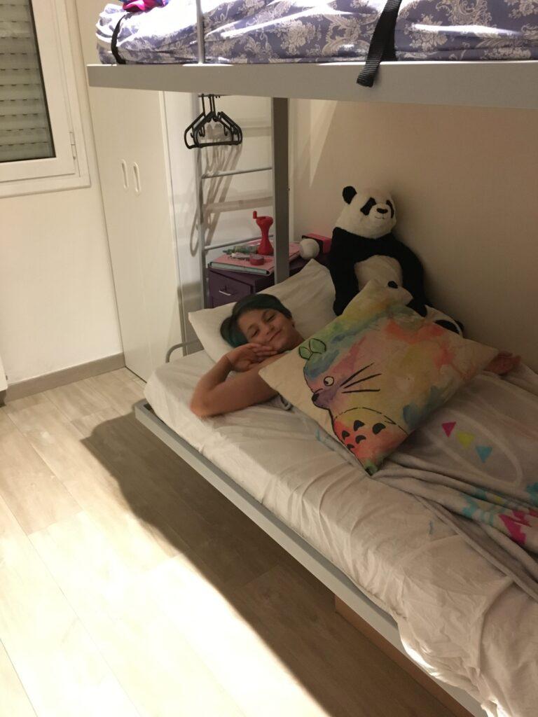 Cora in her room